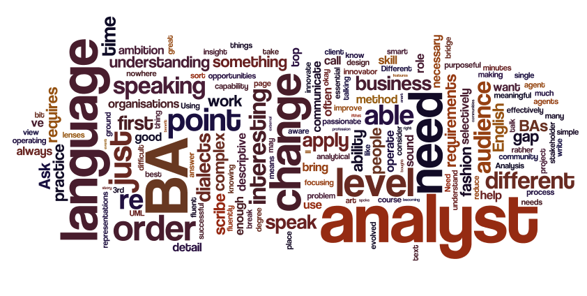 learn to speak analyst